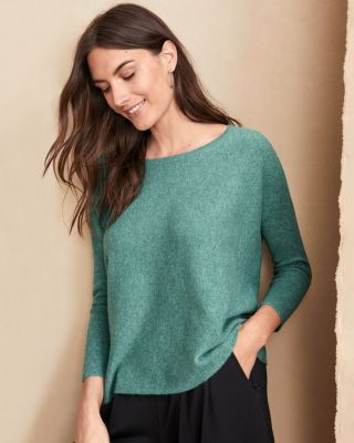 Garnet Hill Cashmere Cropped Sweater