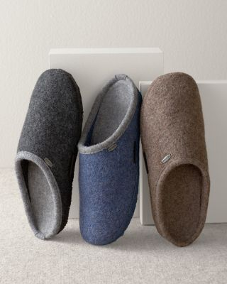 Men's Giesswein Abend Boiled Wool Slippers