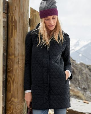 Everyday Slim-Fit Quilted Car Coat