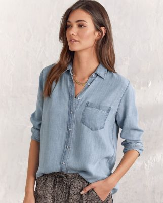 DL1961 TENCEL™ Chambray Button-Down Shirt