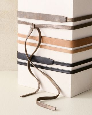 ADA Leather Skinny Wrap Belt