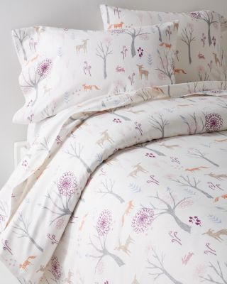 Garnet Hill Enchanted Forest Flannel Sheets
