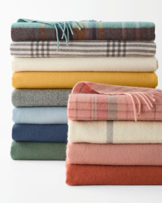 Wool and Cashmere Throw By Garnet Hill