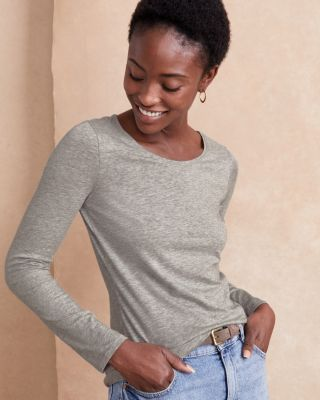 Organic Pima Cotton and TENCEL Long-Sleeve Tee Shirt