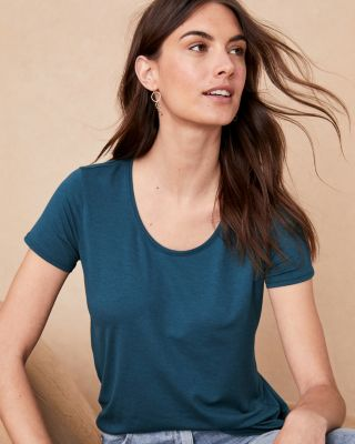 Organic Pima Cotton and Tencel Short-Sleeve Tee