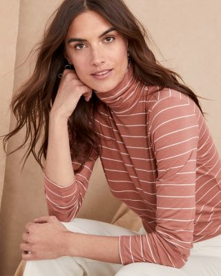 Organic Pima Cotton and TENCEL Turtleneck Top
