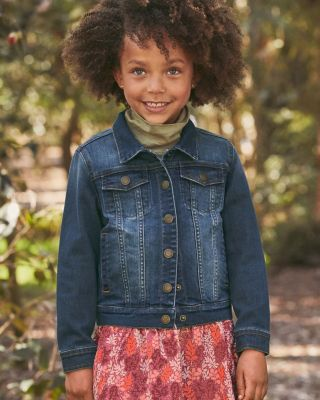 Embroidered Denim Jacket - Girls