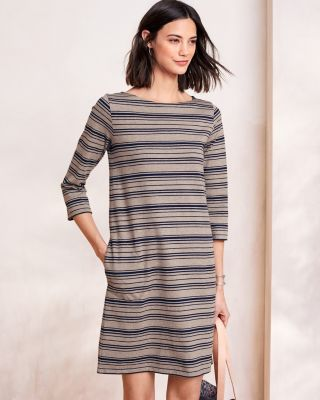 Organic Cotton Bateau-Neck A-Line Dress