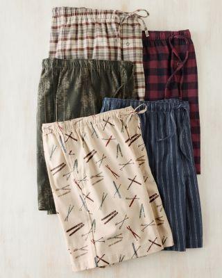 Men's Organic Pima Flannel Shorts