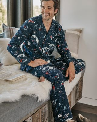 Men's Organic-Pima-Cotton Flannel Pajamas