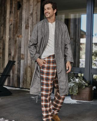 Men's Organic Pima Flannel Robe