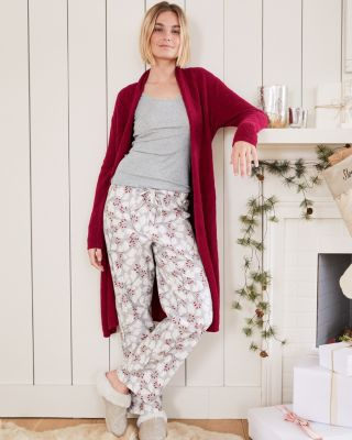 Organic-Pima-Cotton Flannel Pajama Pants By Garnet Hill