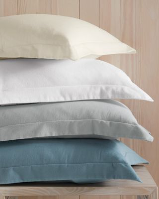 Lightweight Brushed Organic-Cotton Flannel Sham