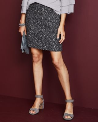 Sequin Sweater Skirt