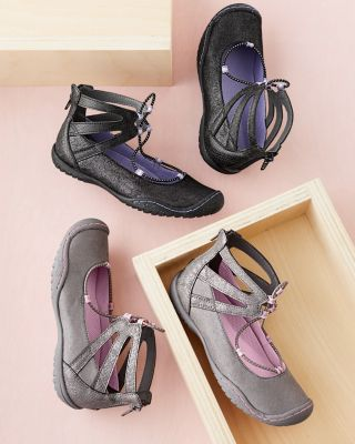 Kids' Jambu™ Pythera Ankle-Strap Ballet Shoes