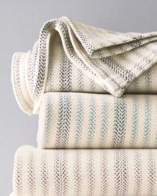 Cotton Double Ticking Stripe Blankets and Throws