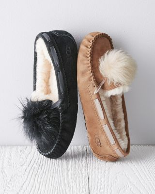 UGG Dakota Pom-Pom Moccasin Slippers