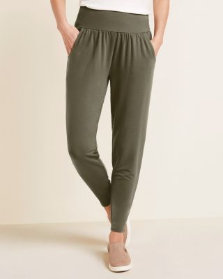 Perfect Terry Ankle Length Travel Pants