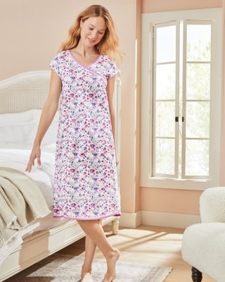 Asian Wrap Organic Cotton Nightgown By Garnet Hill