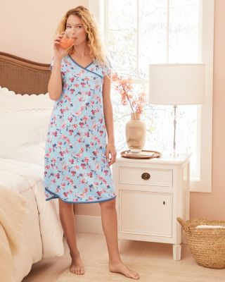 Asian Wrap Organic Cotton Nightgown