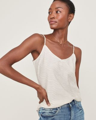 Washed-Silk V-Neck Camisole By Garnet Hill