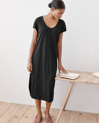 Eileen Fisher Seam-Detail Gown