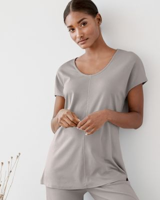a53e182f5b53 EILEEN FISHER Seam-Detail Cap-Sleeve Pajama Top