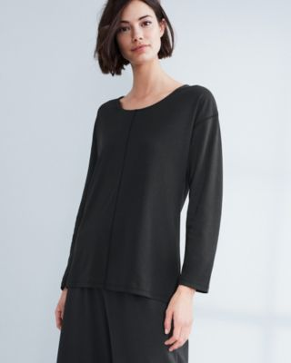 EILEEN FISHER Organic Cotton Seam-Detail Sleep Tunic Top