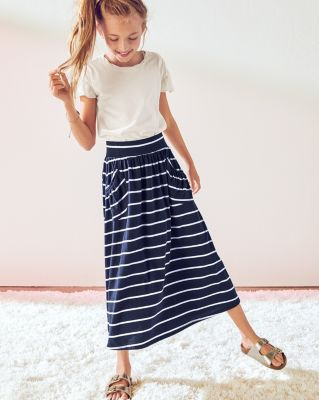 Pima Cotton Knit Maxi Skirt - Girls