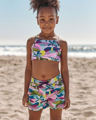 Girls' Seaside Swim Board Shorts UPF 50+