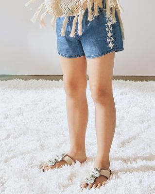 Maya Embroidered Shorts - Girls
