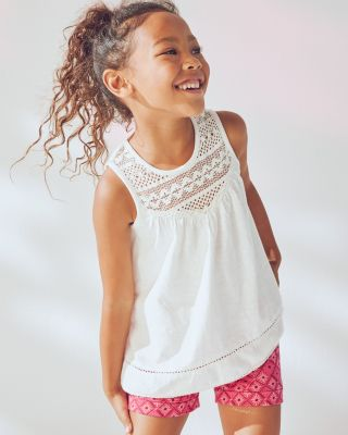 Girls' Lace Swing Tank
