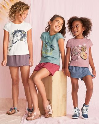 Girls' Organic Cotton Art Study Graphic Tee Shirt
