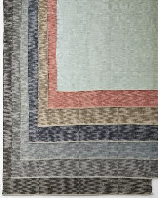 Herringbone Woven Cotton Reversible Rug