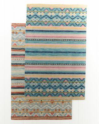 Carmel Hooked Kilim Southwest Wool Rug