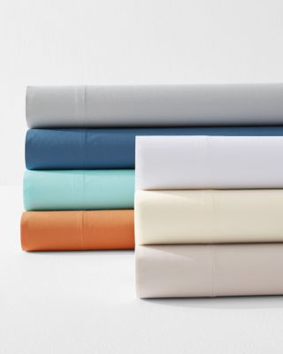 Signature Organic Cotton Percale Sheets By Garnet Hill.