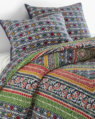 Taza Patchwork Handstitched Quilt and Sham