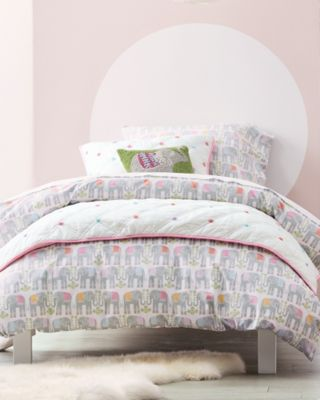 Elephants Percale Duvet Cover