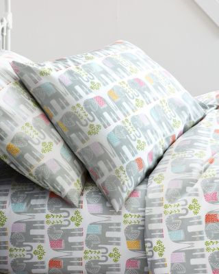 Elephants Percale Crib Fitted Sheet