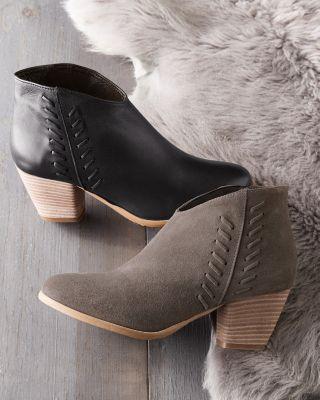 Amalia Italian Suede Whipstitch Boots