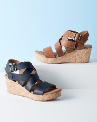 Iva Lattice Cork Wedges