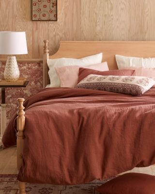 Solid Relaxed-Linen Sham