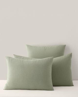 Garnet Hill Solid Relaxed-Linen Sham