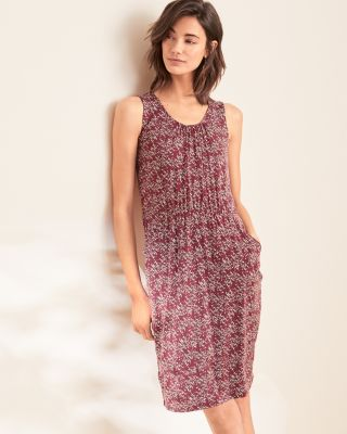 Sleeveless Pocket-Detail TENCEL Dress by Garnet Hill
