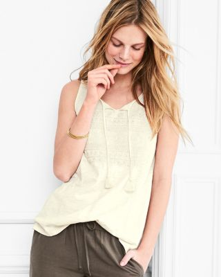 Organic-Cotton Embroidered Knit Tunic