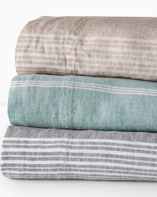 Linen Yarn-Dyed Stripe Bedding
