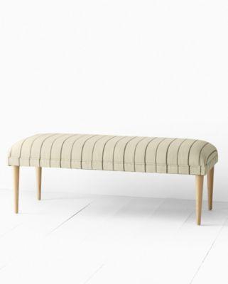 Burnham Upholstered Pine Bench