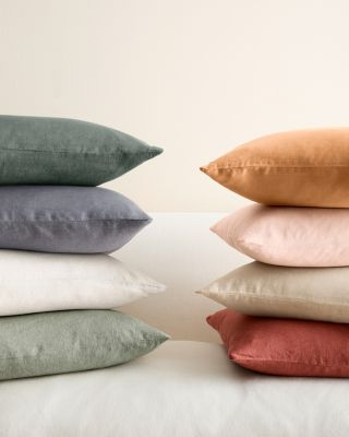 Solid Relaxed-Linen Pillow Cover