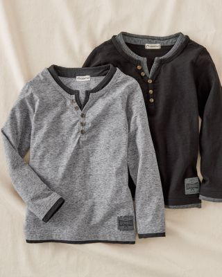 Boys' Appaman Faux-Layer Henley