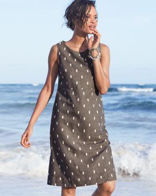 Linen Boatneck Dress